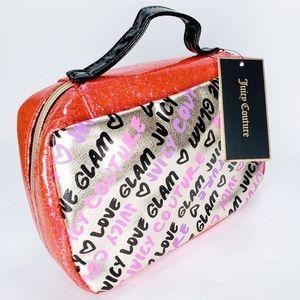 NWT Juicy Couture Metallic Makeup Travel Bag